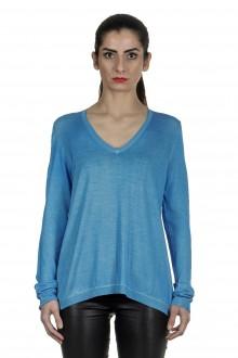AVANT TOI Damen Pullover aus Kaschmir-Seidengemisch blau