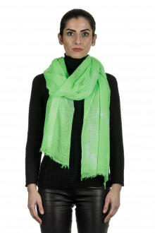 Suzusan Damen Kaschmir Schal in Batikoptik grün weiß