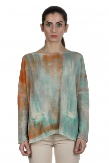 F Cashmere Damen Oversized Pullover multicolor