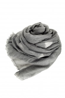 Suzusan Kaschmir Schal grau weiß