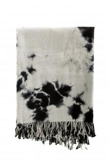 Suzusan Alpaka Decke Shibori schwarz grau