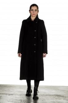 Yukai Damen Langer Mantel schwarz