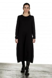 Yukai Damen Strickkleid in A-Linie schwarz
