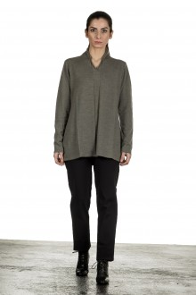 Yukai Damen Pullover A-Linie olive