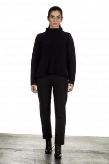 Yukai Damen Pullover mit Stehkragen dunkelblau