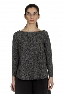 Schella Kann 2 Damen Stretch Langarm Shirt Print schwarz grau