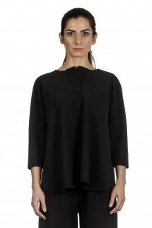 Schella Kann 2 Damen Bluse in A-Form schwarz
