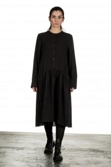 Apuntob Damen Avantgarde Hemdblusenkleid dunkelbraun