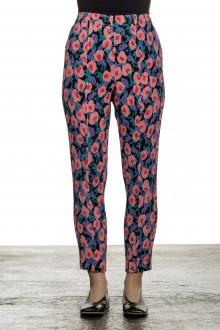 Issey Miyake Damen Plissierte Hose mit Print mehrfarbig