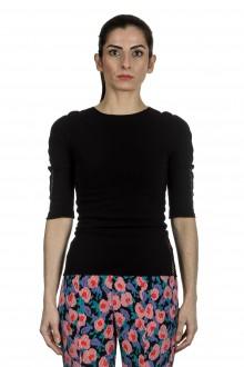 Issey Miyake Damen Shirt mit Cut-Outs schwarz
