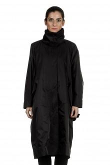 Issey Miyake Damen Oversized Mantel schwarz