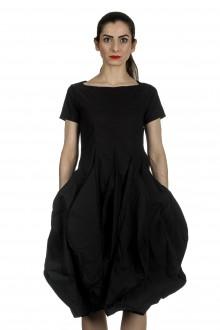 Rundholz Dip Damen Kleid mit Ballonrock schwarz