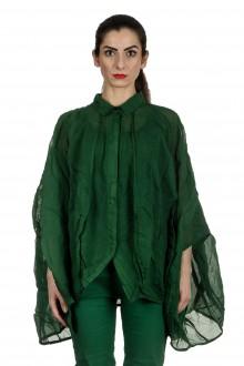 Rundholz Dip Damen Ballonförmige Bluse grün
