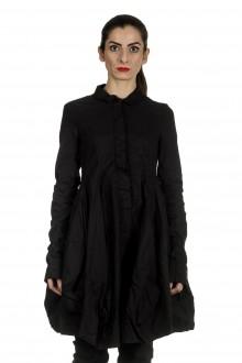 Rundholz Dip Damen Ausgestellter Gehrock in Ballonform schwarz