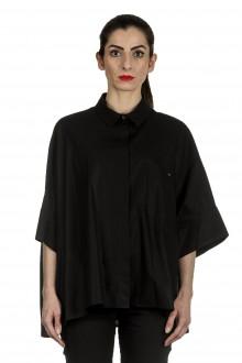 Rundholz Damen Ausgestellte Bluse schwarz