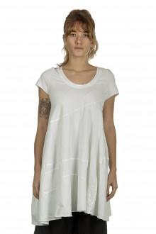 Rundholz Damen Ausgestelltes T-Shirt Avantgarde off-white