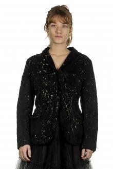 Rundholz Dip Damen Blazer mit Gold Färbung schwarz