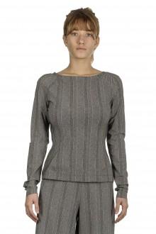 Schella Kann 2 Damen Langarmshirt mit Print schwarz weiß