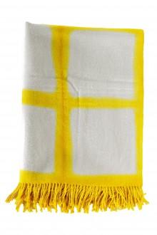 Suzusan Decke Shibori aus Alpaka gelb grau