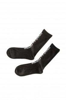 Comme Des Garçons Socken mit Logo-Print schwarz