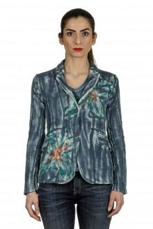 AVANT TOI Damen Blazer mit handbemalten Print mehrfarbig