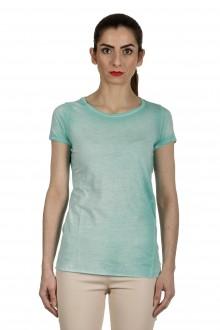 AVANT TOI Damen T-Shirt aus feiner Baumwolle türkis