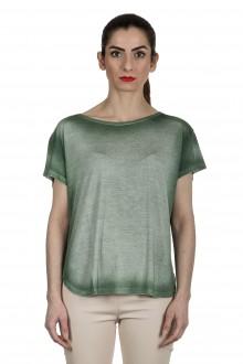 AVANT TOI Damen Oversized T-Shirt aus feinem Material grün