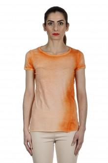 AVANT TOI Damen T-Shirt aus feiner Baumwolle orange