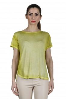 AVANT TOI Damen Oversized T-Shirt aus feinem Material lemon