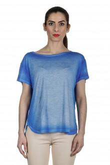 AVANT TOI Damen Oversized T-Shirt aus feinem Material dunkelblau