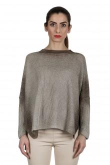 AVANT TOI Damen Oversized Pullover aus Leinen anthrazit