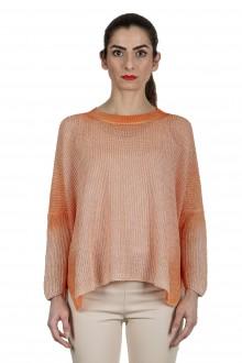 AVANT TOI Damen Oversized Pullover aus Leinen orange