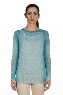 AVANT TOI Damen Feingestrickter Pullover aus Leinen blau