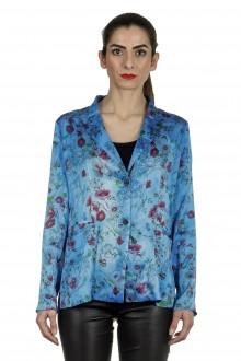 AVANT TOI Damen Blazer mit floralem Print mehrfarbig