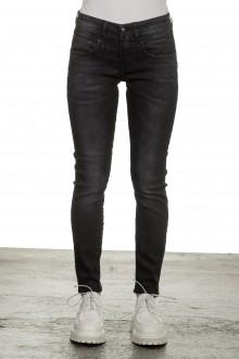 R13 Damen Skinny-Jeans mit hohem Bund schwarz