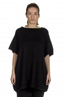 Rundholz Damen Ausgestelltes Jerseykleid schwarz