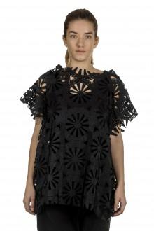 Rundholz Damen Ausgestelltes Oversized Shirt schwarz