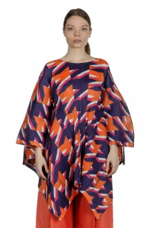 Pleats Please Issey Miyake Oversized Bluse multicolor