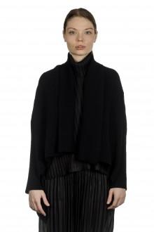Pleats Please Issey Miyake Damen Plissee Cropped-Cardigan schwarz