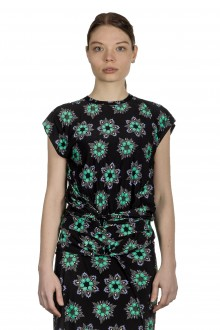 Paco Rabanne Damen Top mit floralem Print mehrfarbig