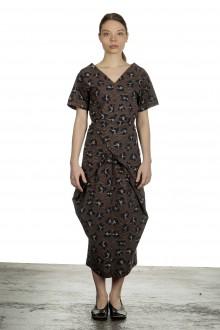 Schella Kann 2 Damen Wickelkleid in Midi-Länge mit Print mehrfarbig