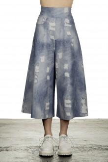 Schella Kann 2 Damen Culotte Hose in Jeans-Print mehrfarbig