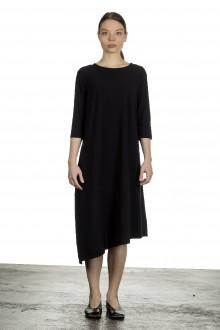 Schella Kann 2 Damen Asymmetrisches Kleid in Midi-Länge schwarz