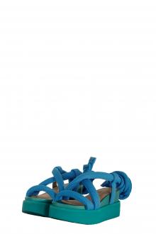 Issey Miyake x United Nude Damen Sandale blau