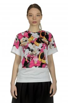 Comme Des Garçons Damen T-Shirt mit Mickey-Maus-Print mehrfarbig