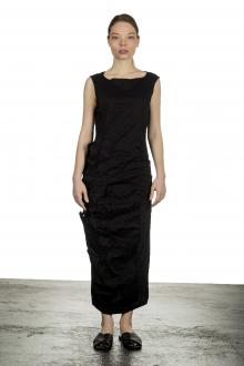 Rundholz Damen Kleid in Midi-Länge schwarz