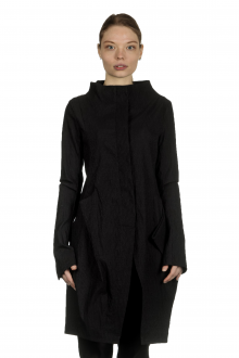 Rundholz Dip Damen Ausgestellter Gehrock in Tulpenform schwarz