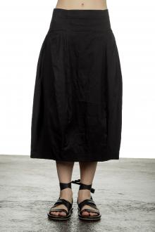 Rundholz Damen Ausgestellter Rock in Ballonform schwarz
