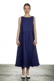 Apuntob Damen Ausgestelltes Trägerkleid mit Karomuster schwarz blau