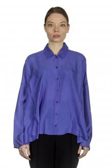 Apuntob Damen Hemdbluse in A-Linie blau